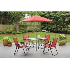 mainstays 7 piece outdoor sling dining set. mainstays searcy creek 6-piece folding outdoor dining set 7 piece sling t