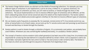 Iterator Design Pattern Custom Decorating