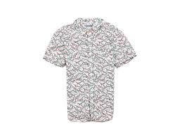 Details About I River Island Mens Shirt Short Sleeve Pattern S