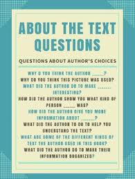 Guided Reading About The Text Anchor Chart