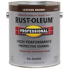 high performance protective enamel gloss leather brown oil based interior exterior paint