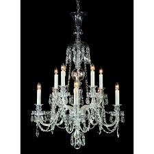 most 10 light pendant ceiling light with lead crystal detail