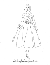 Fashion Coloring Pages Hand Sewing Jewelry Design Drawing