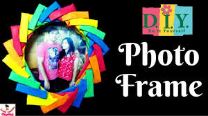 diy easy paper photo frame at home paper art tutorial gift ideas kids craft crazy creative chanchal