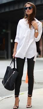 <b>OL Style White</b> Long Sleeve Blouse For Women | Casual work outfits ...