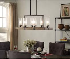 Dining Room Kitchen 6 Light Metal Wood Chandelier Dining Room Kitchen Light Fixture