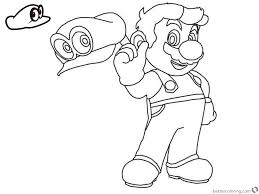 Super Mario Odyssey Coloring Pages Free Printable Coloring Pages