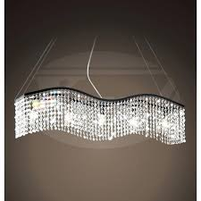 linear crystal chandelier linear wave 5 light black and crystal chandelier x contemporary modern linear crystal