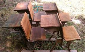wooden school desk and chair. Oiled Antique School Desks Chairs Wooden Desk And Chair