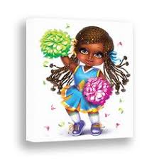 cheerleader wall art african american girl bedroom decor kids canvas sport wall art little black girl playroom decor cute cheerleader girl on little black girl wall art with 64 best african american girls wall art images on pinterest