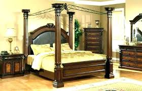 Wood Canopy Bed King Canopy Beds King Size Canopy Bed Frame Full ...
