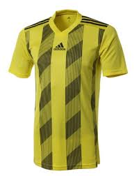 Details About Adidas Men Stripe 19 Shirts S S Soccer Jersey Yellow Tee Top Gym Shirt Dp3204