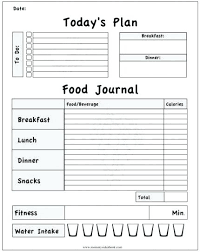 Free Printable Food Log Sheets Meal Planning Templates Freezer Inventory Diet Log Sheet Printable