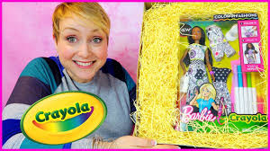 Barbie Airbrush Designer Argos Barbie Crayola Surprise Box And Barbie Color In Fashion Marker And Dress Diy