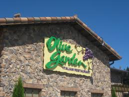olive garden i know chain restaurants get a lot of on being average but i had never been here before so i could care less if it was a chain