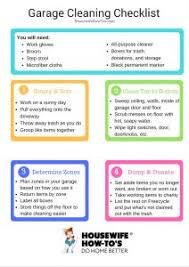 cleaning checklist garage spring cleaning checklist clean and organize better than ever