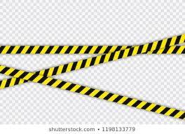 Black And Yellow Stripes Border Royalty Free Black And Yellow Police Stripe Border Stock Images