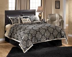 Beautiful Bedroom Comforter Sets With Modern Black Wooden Couch Bed Plus  Cute Bedding Colors And Wooden Flooring Plus Cool Blue Dark Carpet Area  Also ...