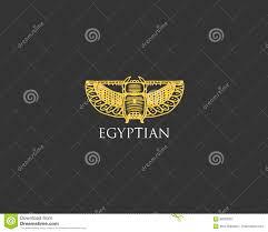 египетский логотип с символом жука скарабея старого года сбора
