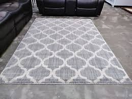 5x8 grey gray white modern contemporary area rug new thick soft rugs top er
