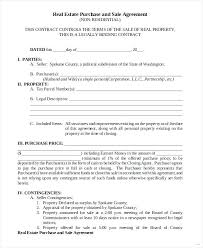 Property Purchase Agreement Template Amazing Simple Real Estate Contracts Sales Contract House Sale Agreement