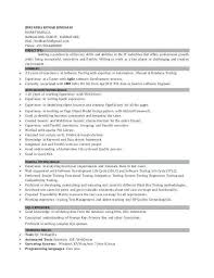 16 Best Of Manual Testing Resume Sample Collections