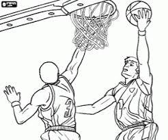 Kleurplaat Poging Te Scoren In Basketbal Kleurplaten