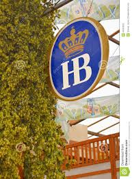 Hops For Decoration Hofbrau Sign And Hops Editorial Image Image 44910620