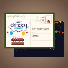 birthday postcard template birthday postcard template classical colored decoration free vector