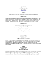 Flight Attendant Resume Adorable Generic Corporate Flight Attendant Resume