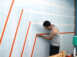 Painted Wall Designs Boys Bedroom Graphic Racing Stripes Painted Accent Wall Painted
