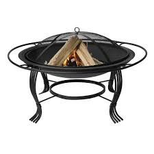 black fire pit with outer ring black fire pit b64
