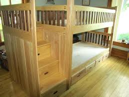 log loft bed with desk bunk by wood designs beds