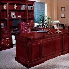 fice Left Executive U Shaped Desk Traditional fice Furniture