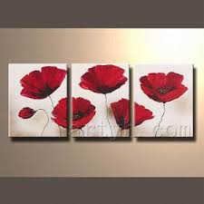 canvas wall art red flowers