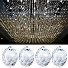 us 10x clear faceted glass crystal chandelier pendant prisms lighting ball 20mm