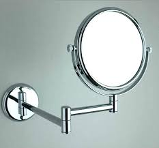wall mounted magnifying mirror with light bathroom for hung