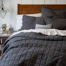Belgian Flax Linen Quilt + Shams   west elm &  Adamdwight.com