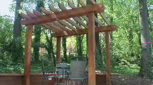 building a wooden pergola diy throughout diy patio arbor