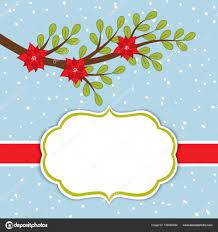 Vektor Weihnachten Und Neujahr Karte Vorlage Zweig Und