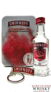 vodka smirnoff miniaure keyring gift set