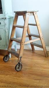 lovely ideas old wooden ladder for the wood ladder and strings knot too shabby