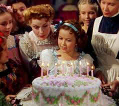 Shirley Temple The Little Princess Film Cute Girl Born April Shirley Temple  Black Beautiful American Filme Star Fernsehen Television Actress Singer  Dancer Curly haar Birthday Cake Candles Girls Party Foto Filme with