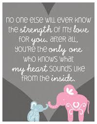 Elephant Quote Poster Print For Babys Nursery Quotes Mother