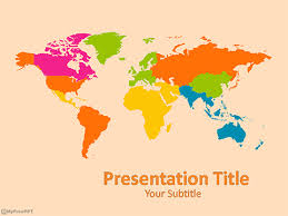Free World Map Powerpoint Template Download Free