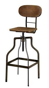 adjustable height swivel bar stool. Amazon.com: Furniture Of America Alavus Industrial Height-Adjustable Swivel Barstool, Oak: Kitchen \u0026 Dining Adjustable Height Bar Stool S