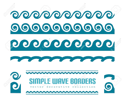 Border Patterns New Simple Wavy Border Patterns And Constituent Elements On White