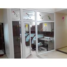 White Upvc Glass Office Partition Rs 750 Square Feet Abc Windows