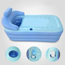 foldable inflatable bathtub 160x84x64cm pvc bath tub with air pump