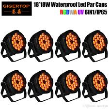 best tiptop stage light 18x18w mini flat waterproof led par cans dj stage light equipment floor stand hanging bracket pwm dimming outdoor ip65 x8 under
